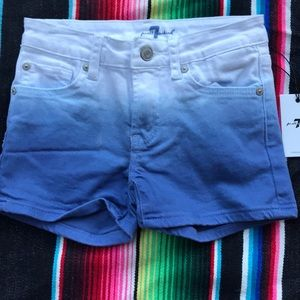 7 for all Mankind shorts - girls size 10  NWT